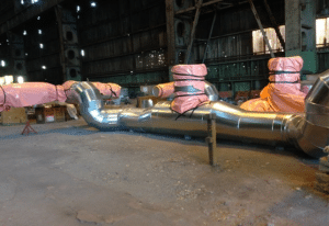 Steam piping insulation