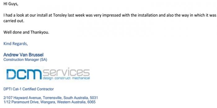 DCM Services testimonials